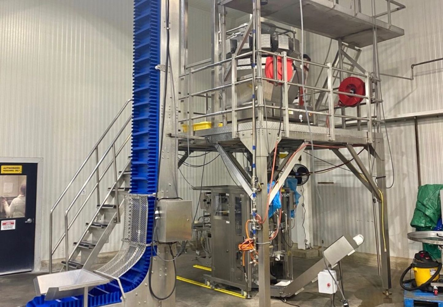 2019 Vertical Form Fill and Seal - Like New BPI Bagger with 14-Bucket Scale and Z-Conveyor - Frozen Capable