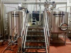 2012 JV Northwest 20 BBL 2-Vessel Brewhouse, Steam Jacketed Brew Kettle, Mash   Reqd Rig Fee: $3500