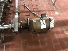 """FRISTAM CENTRIFUGAL PUMP, 2.5"""" INLET, 2"""" OUTLET, 7.5 HP, S/N: FPX73299 - Subj to Bulk 