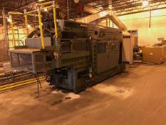 UNILOY MODEL 350R2 4-HEAD BLOW MOLDER, COOLING HEAD TRIMMER, (3) GAYLORD BOXES, SEIMENS VFD (NO MOLD