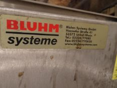 Bluhm System Print and Apply Labeler, Currently Set To Place Top Label On Kegs, App - Contact Rigger