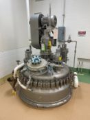 Pfaudler Glass Lined Vacuum Rated Agitated Reactor, Approx 500 Gallons, Steam Jacket | Rig Fee $850
