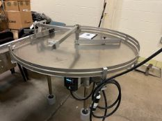 "Accumulation Table - 60"" All SS Rotary Accumulation Table With VFD 