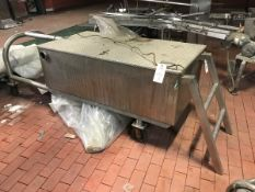 Stainless Steel Tank with Air Valve, Approx 30 x 58 x 18in Deep | Rig Fee: $150