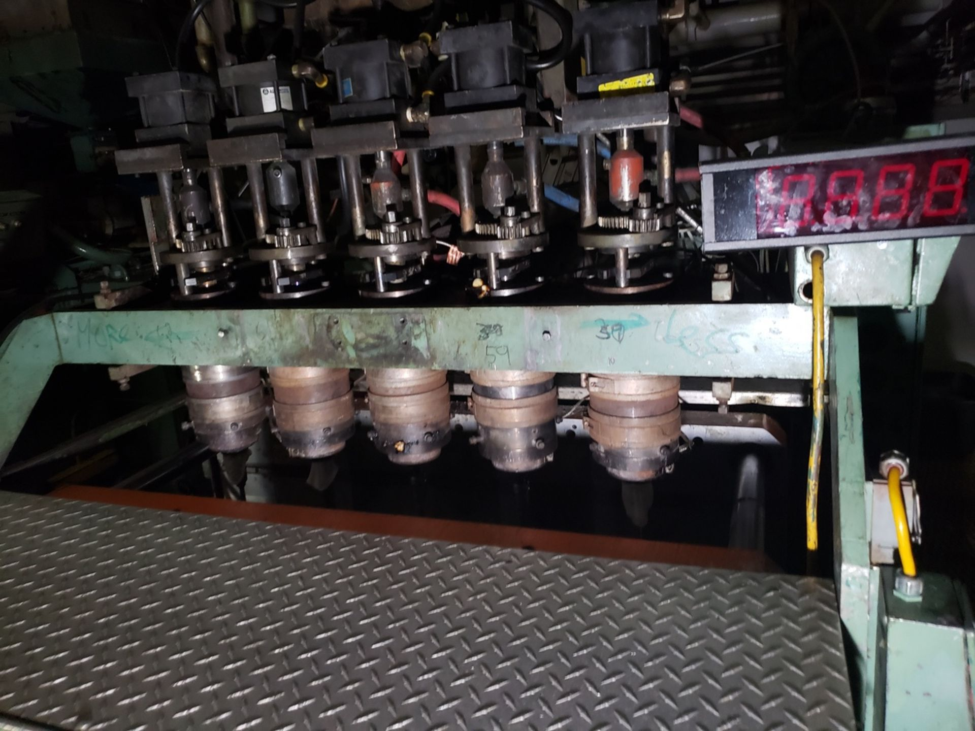Uniloy 5 Head Blow Molding Machine, M# 350R1, S/N 350R1-2431 | Rig Fee: $14500 - Image 3 of 4