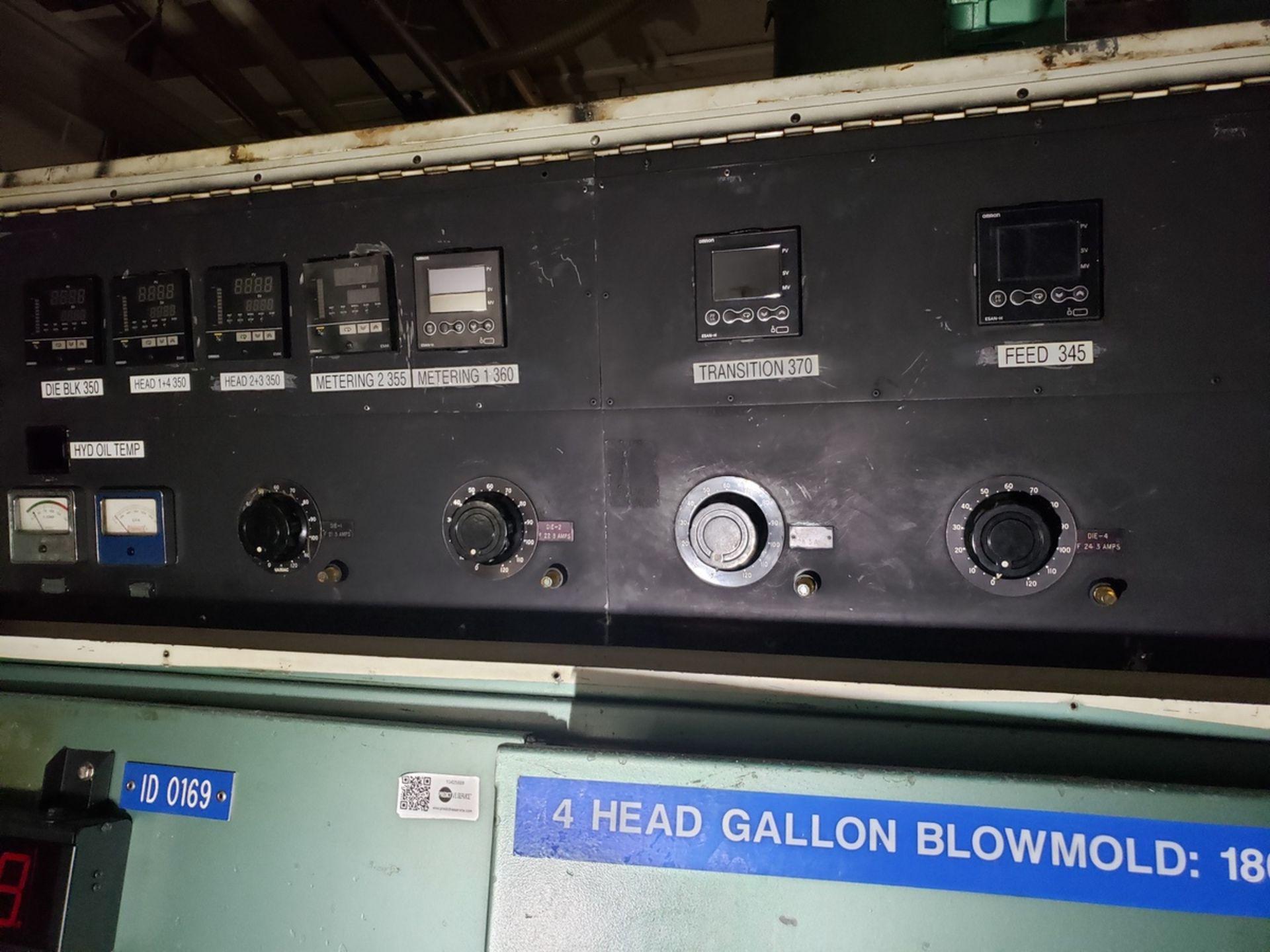 Uniloy 4-Head Blow Molder, Model 5835, S/N: 5835-2301   Rig Fee: $14500 - Image 4 of 9