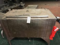 Stainless Steel Tank, Approx 24 x 48 x 22in, with Federal Filler Valves, | Rig Fee: $100