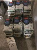 (6) Allen Bradley Powerflex 4M VFDs, 1 HP | Rig Fee: $150