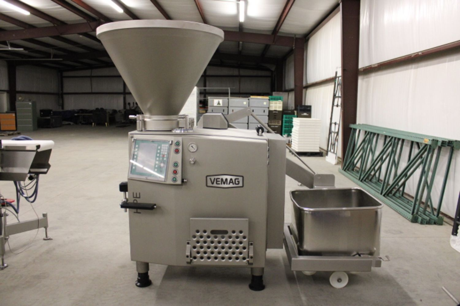 Like New 2019 Vemag HP25E Vacuum Stuffer, MMP223 Portioner & Vemag Process Check, 2016 IJ White Ambient Spiral and Excess Assets from Koch Foods