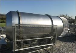 2012 Quality Fabrication Stainless Steel Seasoning Drum, S/N: 14083   Seller to Load