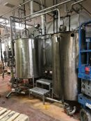 (2) 360 GALLON STAINLESS STEEL TANKS | Rig Fee: $300