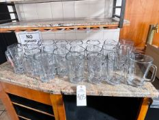 LOT OF (22) GLASS PITCHERS | Rig Fee: Buyer to remove or contact rigger