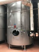"124 BBL DCI FERMENTATION AND AGING VESSEL, JACKETED (S/N 93-B-45749A, 3000 LBS, 14'6"" TALL WITH 103"""