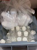 BIN OF GLASS AND PLASTIC SAMPLE BOTTLES | Rig Fee: 10