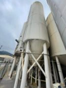 260 BBL DCI FERMENTATION AND AGING VESSEL, JACKETED (S/N 96-B-54090B, 15,000 LBS, 39' TALL WITH 104""