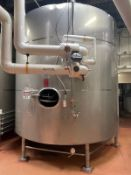 DCI 140 BBL FERMENTER (6896 GALLON JACKETED TANK), +75/-15 PSI JACKET DESIGN PRE | Rig Fee: 2500