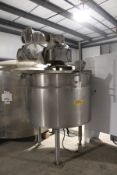 Cherry Burrell 300 Gallon Jacketed, Scrape Surface Twin Agitated Kettle, S/N E-007-9   Reqd Rig: No