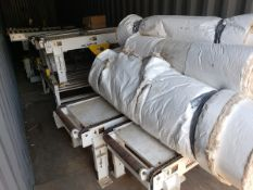 """Lot of (4) 25"""" X 63"""" ABF Chain Conveyor Sections & 50"""" Power Roller/Chain Tr 