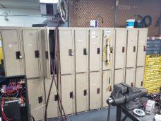 Lot of Employee Lockers | Rig Fee $100