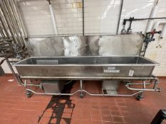 """Stainless Steel COP Sink with (2) Centrifugal Pump, Approx. 30"""" x 11', Mounted on Ca   Rig Fee $150"""