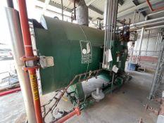2003 Johnston Boiler Gas Fired Steam Boiler, 15 HP Blower Motor, Catalog # FIR-9-G,   Rig Fee $3000