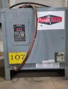 (1) Enersys Enforcer Ferro Forklift Battery Charger, 24V / 99 Amps Max, Model EF1-12-550, (1) PowerF