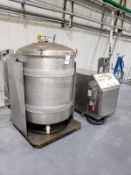 250 Gallon Tumbling/Tilting Mix Tank, W/ Power Supply & Controls