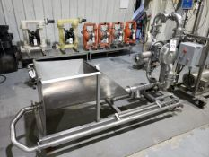 "2"" Sanitary Diaphragm Pump/Load Hopper Skid"