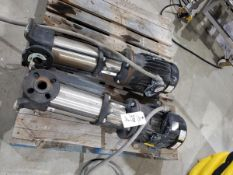 Lot of (2) Grundfos Multistage Centrifugal Pumps, HP 3