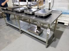 """Stainless Steel table, 30"""" x 8'"""