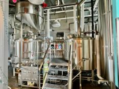 2016 Mark's Design & Metalworks 15 BBL 2-Vessel Brewhouse with Steam Jacketed Brew Kettle, Agitated