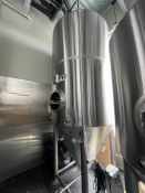 2016 Mark's Design 30 BBL Steep Cone Bottom Fermenter, Glycol Jacketed, Approx 14ft OAH x 6ft OD