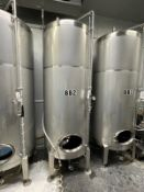 2015 Specific Mechanical 15 BBL Brite Tank, Single Wall, Approx 9ft OAH x 5ft OD