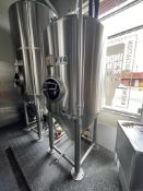 Mark's Design 15 BBL Steep Cone Bottom Fermenter, Glycol Jacketed, Approx 10ft OAH x 5ft OD