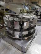 Ishida 14-Head Dimple Bucket Multi-Head Scale, M# CCW-RZ-214W-S/60-WP | Rig Fee: $3000 Skid