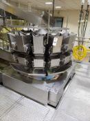 Ishida 14-Head Dimple Bucket Multi-Head Scale, M# CCW-RZ-214W-S/60-WP, S/N 27130 | Rig Fee 3000 Skid