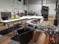 Block Press Infeed Conveyor & Roller Staging Table - Subj to Bulk | Rig Fee: $300