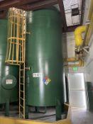 Alfering Carbon Steel Tank, 3400-Gal, 1190mm W, 1190mm L, 4576 H, 1400 kg., Facility Tag: TB-401B