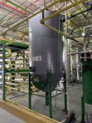 Alfering Stainless Steel Tank, 680-Gal, 1219mm W x 1219mm L x 4318mm H, 330 kg., Facility Tag: TS-30