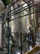 Stainless Steel Tank, 1000-Gal, 1524mm W x 1524mm L x 3962mm H, Facility Tag: TS-403A
