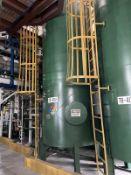 Alfering Carbon Steel Tank, 3400-Gal, 1190mm W, 1190mm L, 4576 H, 1400 kg., Facility Tag: TB-401A