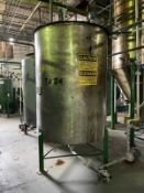 Alfering Sas Stainless Steel Tank, 900-Gal, 1500mm W x 1500mm L x 2000 H, 490 kg., Facility Tag: TM-