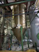Alfering Stainless Steel Tank, 1000-Gal, 1400mm W x 4343mm L x 2200mm H, 420 kg., Facility Tag: TS-3