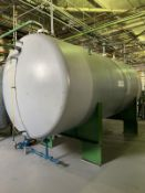 Horizontal Stainless Steel Tank, 1000-Gal, 2159mm W x 1092mm L x 3429 H, 1800 kg., Facility Tag: TS-