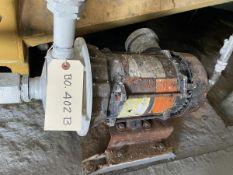 Goulds Model 1ST2D7D4 Pump, 0.75HP, 1750RPM, Facility Tag: BO-402B