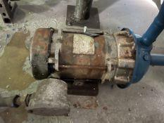 Goulds Model 1ST2D7D4 Pump, 0.75HP, 1750RPM, Facility Tag: BO-421