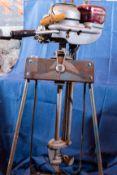 Vintage Neptune Outboard Motor W/ Stand Engine Model #D1479RN