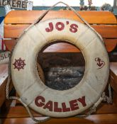 """Throw Ring Floatation Device """"Jo's Galley"""""""