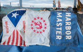 "(3) Nautical Flags ""Harbor Master"" 18""x12"""