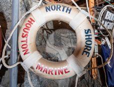 "Throw Ring Floatation Device "" North Shore Houston Marine"" 18"""
